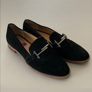 Franco Sarto Black Suede Loafers - 8.5